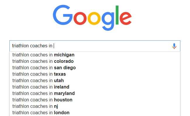 triathlon coaches in google