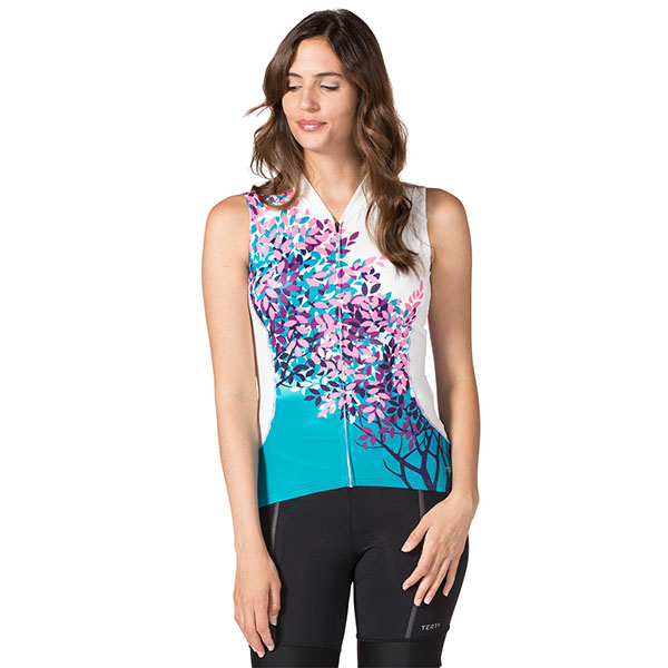 Terry Cycling Bella Sleeveless Jersey Women Cold Shoulder